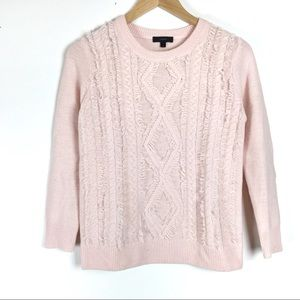 J. Crew patterned knit sweater